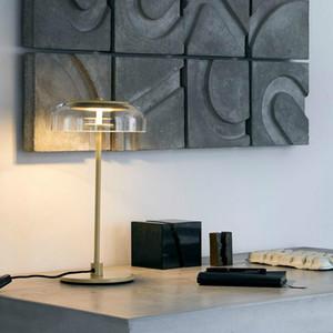 lightin simple nórdica de cristal claro de LED lámpara de mesa de sala de exposición de medio punto lámpara de mesa Para Hotel Reading Fashion Room Estudio de hogar