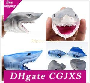 Presentes bonitos Decor frete grátis New Wonderful oito centímetros Mini tubarão cabeça Dedo Tampa Brinquedos Início partido dos miúdos Realizando