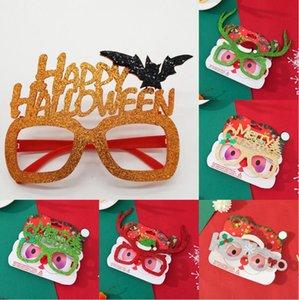 Joyeux Noël Lunettes Halloween adulte enfants Costume de Noël Lunettes Cadre Père Noël Bonhomme de neige de Noël Photographie Props Sea Shipping DDA327-1
