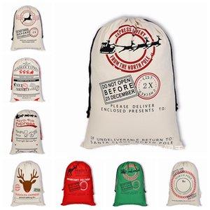 37 Estilos de 50 * 70 centímetros de Natal lona com cordão saco das renas de Santa Sack atual do presente Bags Xmas Detalhes no armazenamento Sacks LJJP299