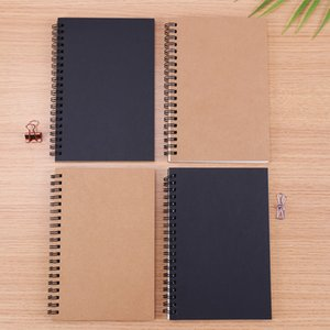 Sketchbook Diary for Drawing Painting Graffiti Soft Cover Black Paper Sketch Book Memo Pad Notebook Office School Supplies Gift