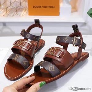 SCHEIDEWEG COMFORT SANDAL Luxus-Designer-Schuhe 1A5BII Frauen Sandalen Art und Weise beiläufige Leder Top-Qualität der neuen Frauen