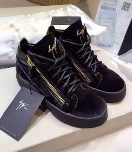 R15 ShoesGiuseppeGZZanottiStudded Spikes Flats sapatos sapatos casuais Homens Mulheres do Partido dos amantes Sneakers