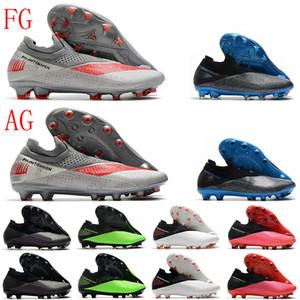 Erkek Yüksek Ayak Bileği Futbol Çizmeler Phantom VSN 2 Elite DF AG Ayakkabı II FG Açık Ucuz Orijinal Futbol Cleats Chuteiras EUR39-45