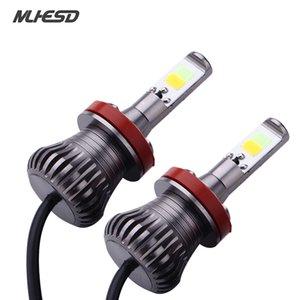 2Pcs H1 H3 880 881 H7 H8 H11 9005 9006 LED Headlight Aluminum Profile Conversion Kit COB Bulb 90W 12000LM White High Power 6000K