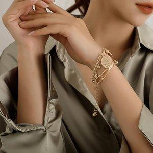 Lien, chaîne Christ Jésus rond bracelet bracelet féminin de la mode chunky bead bijoux