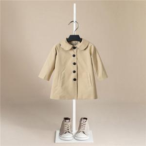 Girl Trench Coat 2020 Autumn Winter Belt Double-breasted Kids Trench Coat Fashion High-grade Teenage Long Windbreaker 3-7