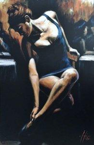 """FABIAN PEREZ """"Sophia"""" Home Decor dipinto a mano HD Stampa Olio su tela di arte della parete della tela di canapa Immagini 200808"""