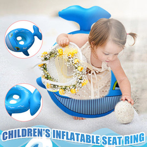 Children's Inflatable Ring With Handle Blue Shark Baby Qwimming Seat Deals