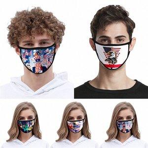 Mask envio reutilizável lavável Cotton Mouth Design Cara er Designer face linho Máscara # QA185 2MaT #