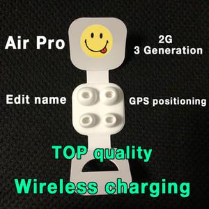 Air Pro H1 puce renommée Casque AP2 AP3 génération Pro sans fil Chargement sans fil Bluetooth Écouteurs Bluetooth Positionnement GPS Numéro de série valide avec la boîte