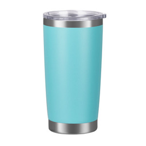 New fashion 20oz Drinking cup Tumbler with Lid Stainless Steel Wine Glass Vacuum Insulated cup Travel 18color sea shipping CCD4868