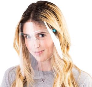 Gözlük Yetişkin Yüz Shield Başkanı ile Koruyucu Tam Yüz Maskesi Yeniden kullanılabilir Şeffaf Siperlik Çalışma Baş Göz Koruma DDA585 Wear