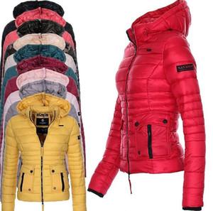 ZOGAA Brand Winter ветровки Женские пальто Puffer куртки Parka для женщин вскользь тонкий Fit Solid Outwear Женский Hooded Coat Plus Size