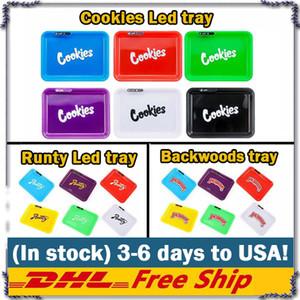 Cookies Runtz Glowtray Blu Rosso Verde Giallo LED di rotolamento Glow vassoio per Rolling 420 altopiano asciutto Erba aromatica, Fiore ha portato con la scatola
