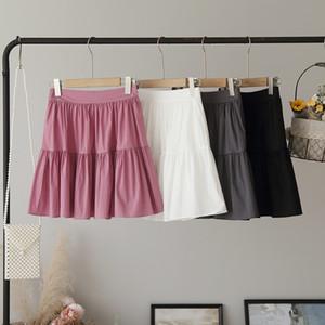 iEQPB [Omalai] мягкий 4432 качество хорошее женщин dressstyle младший сплошной цвет эластичный [omalai] мягкий качество 4432 высокой талии юбки юбка и