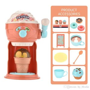 Funny Ice Cream Maker Pretend Play Food Toy Diy Kitchen Machine Educational Cartoon Kids Toys Cute Role Play Girls Gifts
