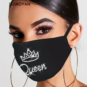 Face Mask Masks Crown Diamond Protective Mask PM2.5 Dustproof Reusable Women Flag Rhinestones USA 3D Mouth Face Colorful Washable Bsril