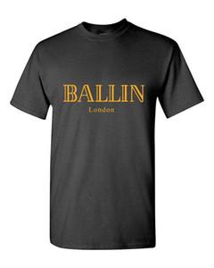 2017 été Vêtements pour hommes O-Neck Ballin London Fashion Urban Graphic unisexe T-shirt Imprimer manches courtes hommes T-shirt
