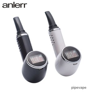 NEW Original Anlerr PipeVape Herbva Dry Herb Vaporizer Pen Kit OLED Screen Ceramic Heating TC Tobacco Baking Airflow Bake Vape Pipe Homles