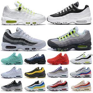 95 95s мужские кроссовки Worldwide Pack Yin Yang Triple Black White Neon модная уличная платформа мужские женские кроссовки спортивные кроссовки 36-45