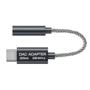 Usb C için 3 .5mm Hifi Dac Aux Kulaklık Adaptörü Realtek Alc5686 Tipi -C için 3 .5mm Ses Dönüştürücü Kablo