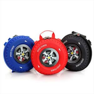 Infebylay Design Kinder 3D Automobil Reifen Schultasche Schöne Cartoon Rucksack Kindergarten 3 6 Jahre alte Schultasche Geschenkbeutel