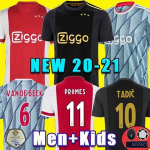 20 21 Ajax maillot de football loin PROMES ALVAREZ Ajax 2020 2021 camiseta de futbo VAN DE BEEK TADIC ZIYECH FOOTBALL SHIRT HOMME ENFANT ENSEMBLES uniforme