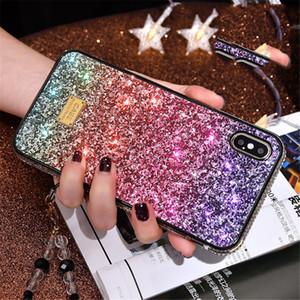 iPhone Gradiente Glitter Caso Rhinestone premium Designer Luxo Mulheres Defender Telefone Capa Para 12 11 Pro Xr Xs Max 6 7 8 Plus
