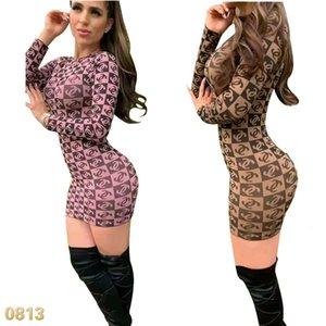 Vestido moda europeus e americanos transfronteiriça high-end impresso vestido de 2 cores SO04 tendência das mulheres