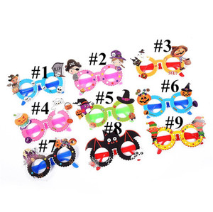 Cadılar Bayramı Noel Çocuk Karikatür Kağıt Gözlük süslemeler 2020 Çocuk Moda Parti Festivali Hediyeler Oyuncaklar Aksesuar E82502 Malzemeleri