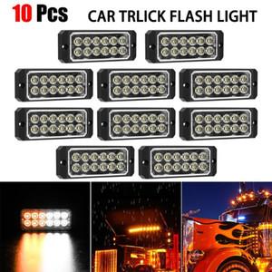 10X Amber 12 LED 36W Strobe Work Light Bar Beacon Flash Emergency for Trucks, Amber Recovery