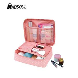 LADSOUL Frauen-Verfassungsbeutel kosmetischer Beutel-Kasten Multifunktions Make Up Lagerung Rushed Floral Nylon-Reißverschluss Travel Wash CD5615 / h
