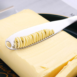 430 Stainless Steel Cheese Butter Knife with Holes Butter Knife Bread Jam Cheese Flatware