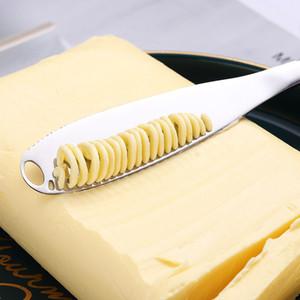 430 الفولاذ المقاوم للصدأ جبن زبدة سكين مع ثقوب زبدة سكين الخبز جام جبن أطباق