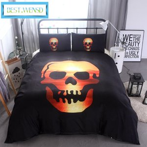 3D Skull Bedding sets Plaid Duvet Covers for Super King queen Size Bed Halloween Style Skull Hat Duvet Cover dekbedovertrek