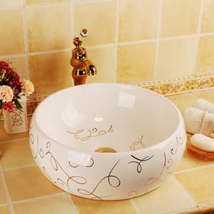White Europe Vintage Style Ceramic Art Basin Sinks Counter Top Wash Basin Bathroom Vessel Sinks Vanities porcelain bathroom sink