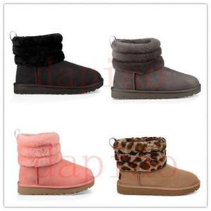 2020 топ РГД пуха мини стеганые ватные леопарда дизайнеруггиMotlee зимних ботинок женщины РГД девушка Lady AMP Multicolor снег теплого IvhC #