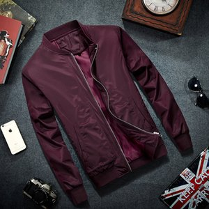 Men's Jackets 2021 Brand Mens Bomber Jacket Thin Men Baseball Coat Solid Color Casual Overcoat For Male Clothing