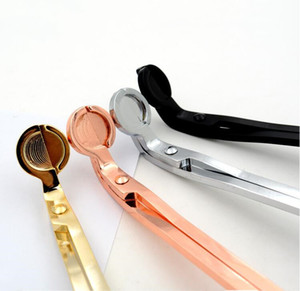 Stainless Steel Snuffers Candle Wick Trimmer Rose Gold Candle Scissors Cutter Candle Wick Trimmer Oil Lamp Trim scissor Cutter OWE1886