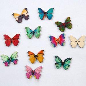 colorfu forma de borboleta gravura de madeira woodcraft natural para casamento / enfeites scrapbooking