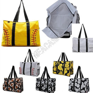 Softball Baseball Handbag Large Travel Duffle Bag Canvas Soccer Women Shopping Totes Sports Yoga Fittness Shoulder Bags new D81311