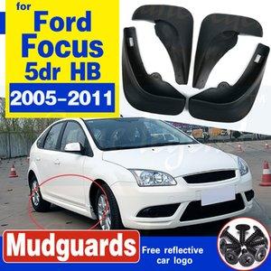 اللوحات الطين شحن مجاني جودة عالية ABS البلاستيك السيارات الحاجز واقيات الطين ل2005-2011 فورد فوكس 2 MK2 5DR HB