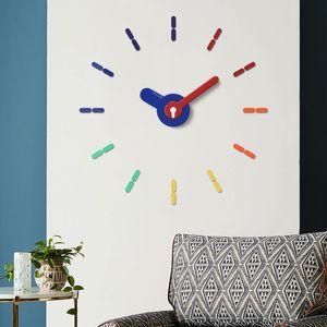 3d Diy Wall Clock Sticker Large Unique Living Room Colorful Modern Design Wall Clock Minimalist Zegar Scienny Home Decor DE50WC