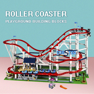 Disponibile 15039 The Roller Coaster Creator 10261 4619pcs Boy Dreams Model Building Blocks Compatibile con 10261 Giocattoli educativi