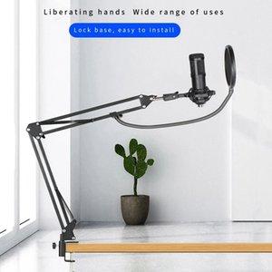 360 ° Universal Desktop Прикроватная Консольные Стенд Телефон Микрофон Anchor Прямая трансляция Многофункциональный K Song Stand Black