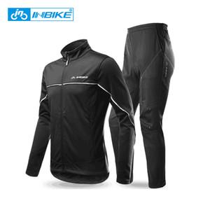 INBIKE Winter Men's Cycling Jacket Pants Set Fleece Warm Thermal Windbreaker Shell Coat Windproof Clothing Climbing Bike Suit