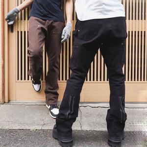20SS Pantalons Bell-Washed Outillage à fond Fusées Jeans Denim Pantalon droit High Street Fashion Jeans Casual Pantalons simple HFYMKZ275