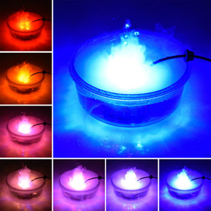 Fog Machine lighting Color Changing Halloween led atomizer lamp popular model props witch pot black flame basin horror atmosphere decor