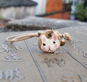 ta9wn moda simple pequeños accesorios de dibujos animados tobillera accesorios tejidos a mano tejidas a mano tobillera de dibujos animados de animales de cerámica simple de la manera de cerámica